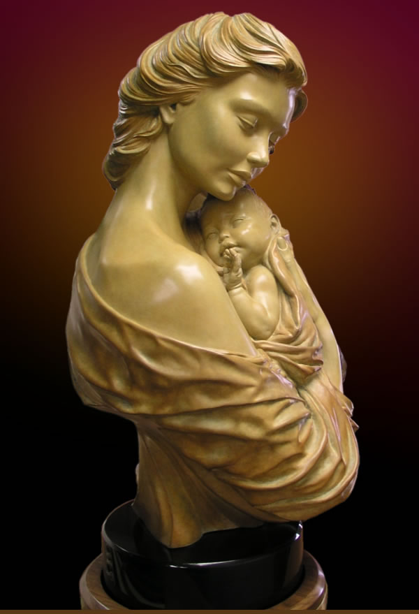 The Gift mother and child bronze sculpture by Charles Oldham